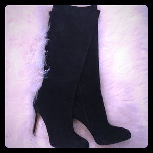 Empire Suede Knee High Boots